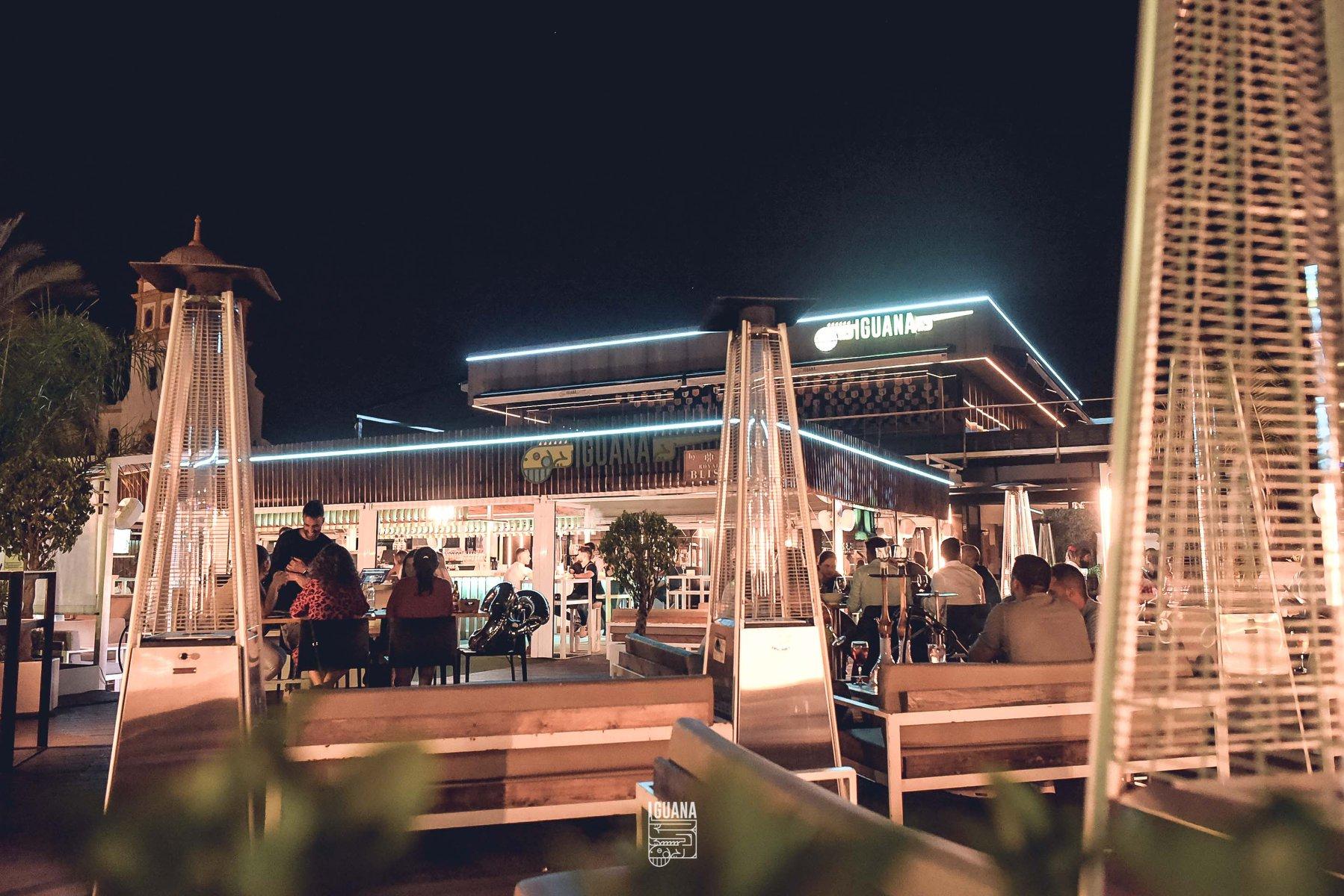 Iguana Snack's Restaurant and Shisha Lounge with Terrace in Sevilla Cachimba Hookah Chicha Kalyan