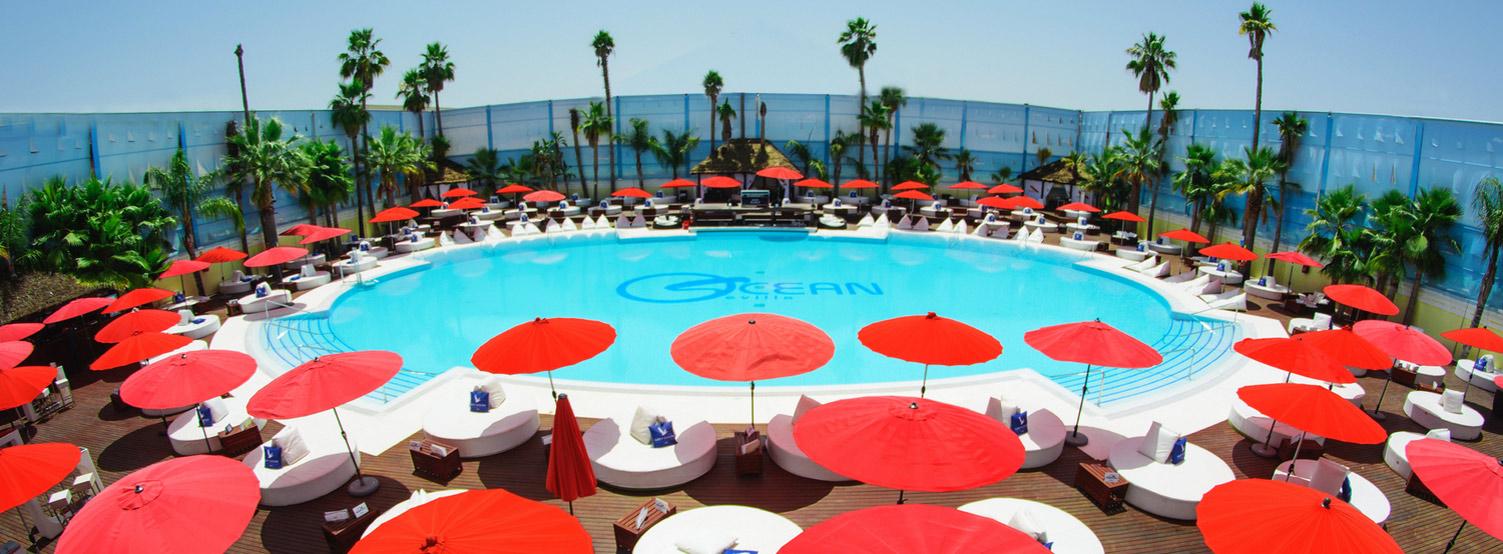 Ocean Occo Pool with Cachimba Sevilla Shisha Chicha Hookah Kalyan